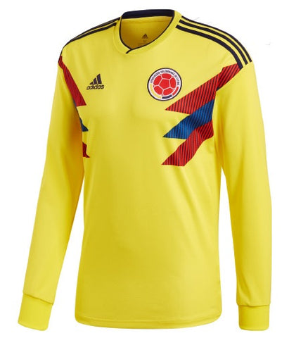buy popular 1135c 5cefb ADIDAS JAMES RODRIGUEZ COLOMBIA LONG SLEEVE HOME JERSEY FIFA WORLD CUP 2018.