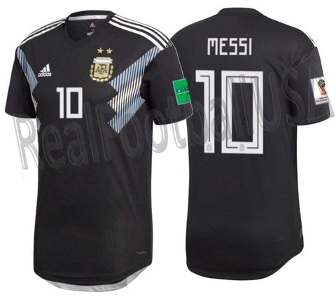 Adidas Messi Argentina Authentic Away Jersey 2018 Patches BQ9360