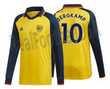 ADIDAS DENNIS BERGKAMP ARSENAL ICONS LONG SLEEVE T-SHIRT RETRO JERSEY 2019/20