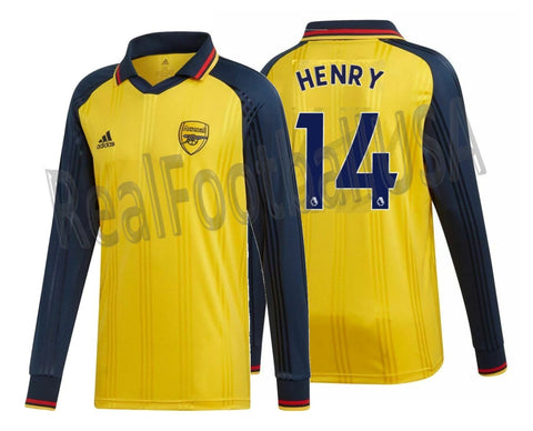 ADIDAS THIERRY HENRY ARSENAL ICONS LONG SLEEVE T-SHIRT RETRO JERSEY 2019/20