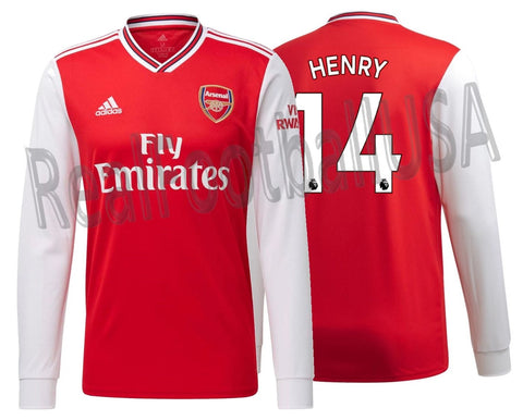 ADIDAS THIERRY HENRY ARSENAL LONG SLEEVE HOME JERSEY 2019/20