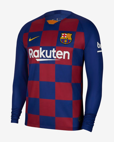 nike lionel messi fc barcelona long sleeve home jersey 2019 20 realfootballusa net nike lionel messi fc barcelona long sleeve home jersey 2019 20