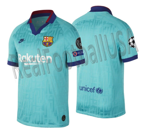 NIKE FC BARCELONA UEFA CHAMPIONS LEAGUE THIRD JERSEY 2019/20