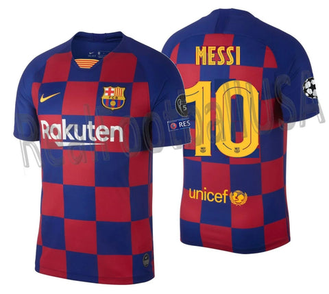 NIKE LIONEL MESSI FC BARCELONA UEFA CHAMPIONS LEAGUE HOME JERSEY 2019/20