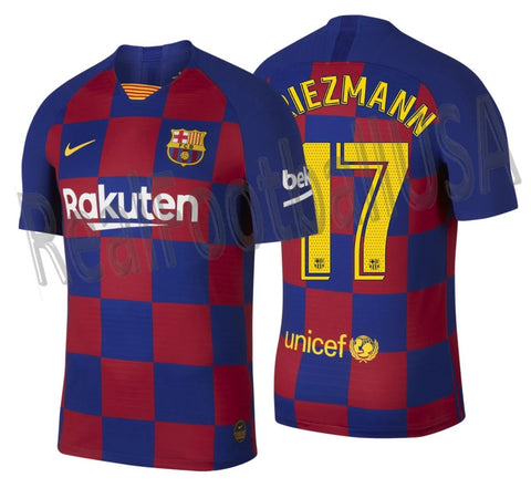 NIKE ANTOINE GRIEZMANN FC BARCELONA AUTHENTIC VAPOR MATCH HOME JERSEY 2019/20