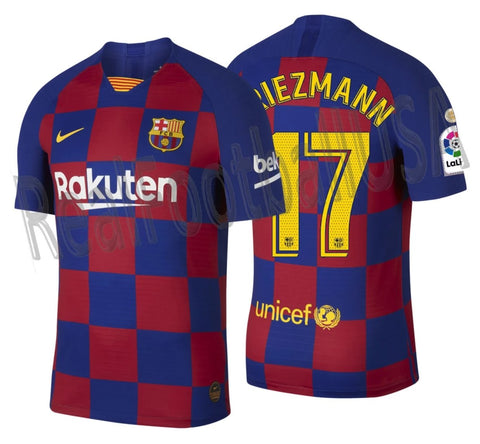 NIKE ANTOINE GRIEZMANN FC BARCELONA AUTHENTIC VAPOR MATCH HOME JERSEY 2019/20 LA LIGA WINNERS PATCH