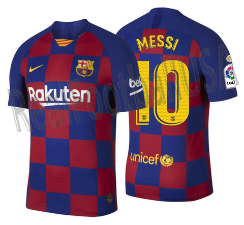 NIKE LIONEL MESSI FC BARCELONA AUTHENTIC VAPOR MATCH HOME JERSEY 2019/20 LA LIGA WINNERS PATCH