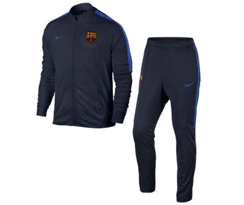 NIKE FC BARCELONA SQUAD YOUTH WOVEN TRACKSUIT Obsidian/Royal.
