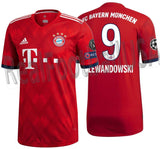 ADIDAS ROBERT LEWANDOWSKI BAYERN MUNICH AUTHENTIC MATCH UEFA CHAMPIONS LEAGUE HOME JERSEY 2018/19.
