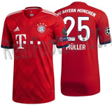 ADIDAS THOMAS MULLER BAYERN MUNICH AUTHENTIC MATCH UEFA CHAMPIONS LEAGUE HOME JERSEY 2018/19.