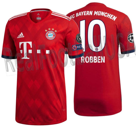 ADIDAS ARJEN ROBBEN BAYERN MUNICH AUTHENTIC MATCH UEFA CHAMPIONS LEAGUE  HOME JERSEY 2018 19. 83c6ea123