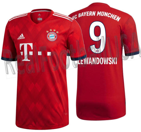 ADIDAS ROBERT LEWANDOWSKI BAYERN MUNICH AUTHENTIC MATCH HOME JERSEY 2018/19.