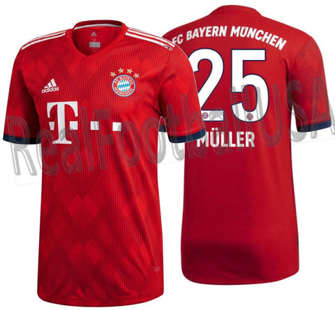 ADIDAS THOMAS MULLER BAYERN MUNICH AUTHENTIC MATCH HOME JERSEY 2018/19.