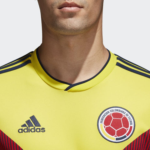 the best attitude a0e8a 16491 ADIDAS JAMES RODRIGUEZ COLOMBIA LONG SLEEVE HOME JERSEY FIFA WORLD CUP 2018  PATCHES