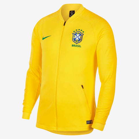 NIKE BRAZIL ANTHEM JACKET FIFA WORLD CUP 2018 Midwest Gold/Lucky Green.