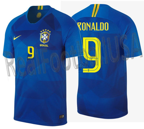 NIKE RONALDO BRAZIL AWAY JERSEY FIFA WORLD CUP 2018