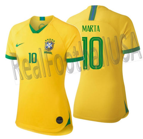 NIKE MARTA BRAZIL HOME WOMEN'S JERSEY FIFA WORLD CUP 2019.