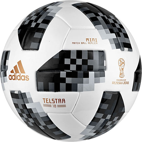 ADIDAS TELSTAR MINI MATCH BALL REPLICA FIFA WORLD CUP 2018 SIZE 1.