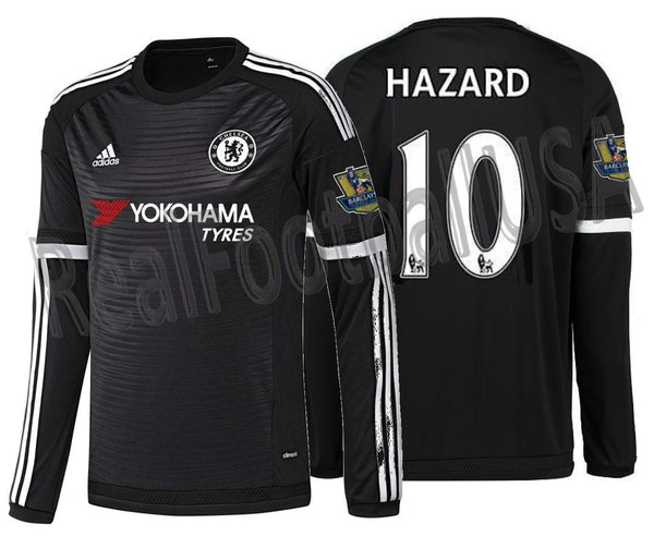 new style 62269 f2e30 ADIDAS EDEN HAZARD CHELSEA FC LONG SLEEVE THIRD JERSEY 2015/16.