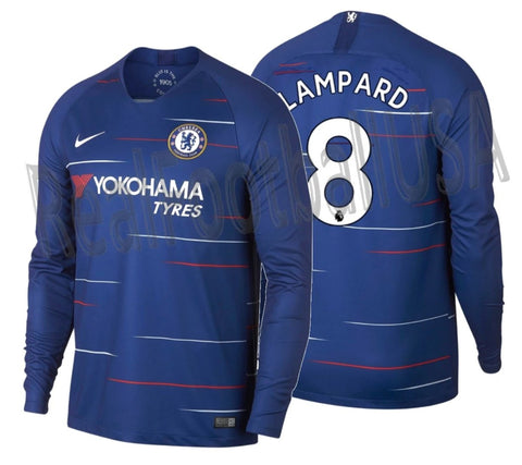 NIKE FRANK LAMPARD CHELSEA FC LONG SLEEVE HOME JERSEY 2018/19 1