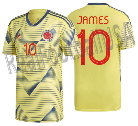 ADIDAS JAMES RODRIGUEZ COLOMBIA HOME JERSEY 2019.
