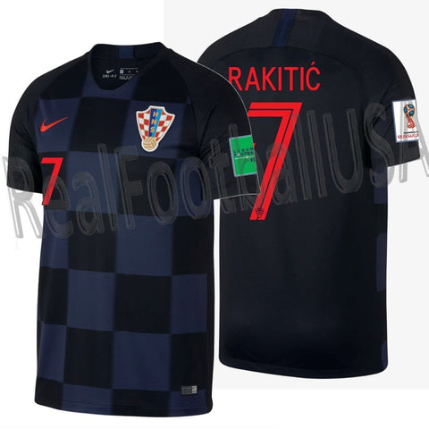 NIKE IVAN RAKITIC CROATIA AWAY JERSEY FIFA WORLD CUP 2018.