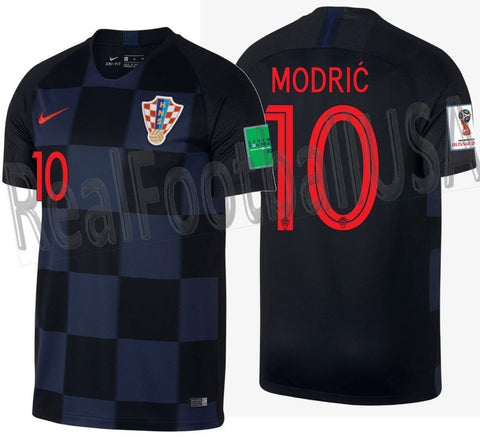 NIKE LUKA MODRIC CROATIA AWAY JERSEY FIFA WORLD CUP 2018.