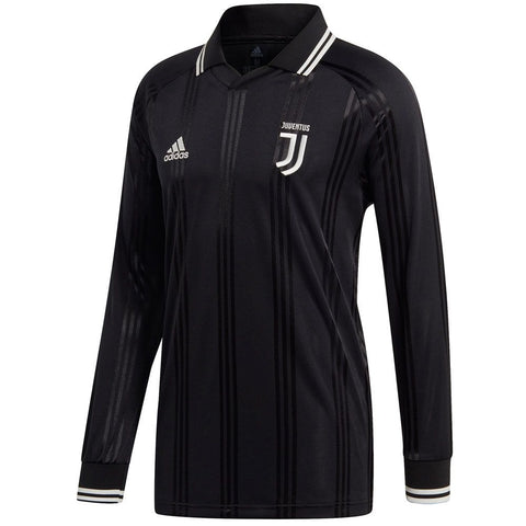 ADIDAS JUVENTUS ICONS LONG SLEEVE T-SHIRT RETRO JERSEY 2019/20.