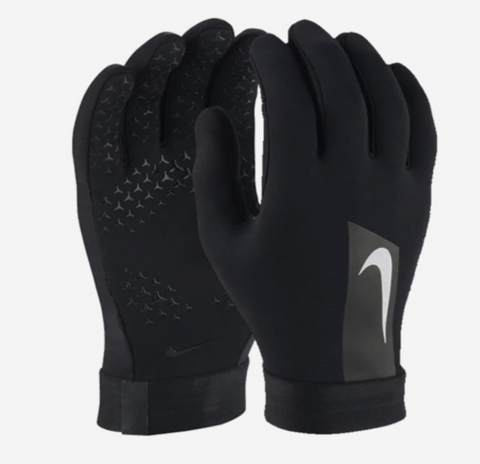 NIKE HYPERWARM ACADEMY FIELD PLAYER SOCCER GLOVES Black/White