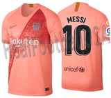 NIKE LIONEL MESSI FC BARCELONA THIRD JERSEY 2018/19 LA LIGA WINNERS PATCH.