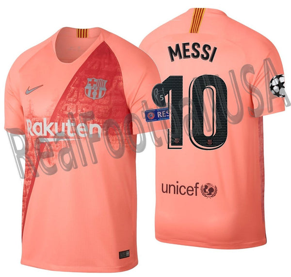 online store b97e0 cf8fd NIKE LIONEL MESSI FC BARCELONA UEFA CHAMPIONS LEAGUE THIRD JERSEY 2018/19.