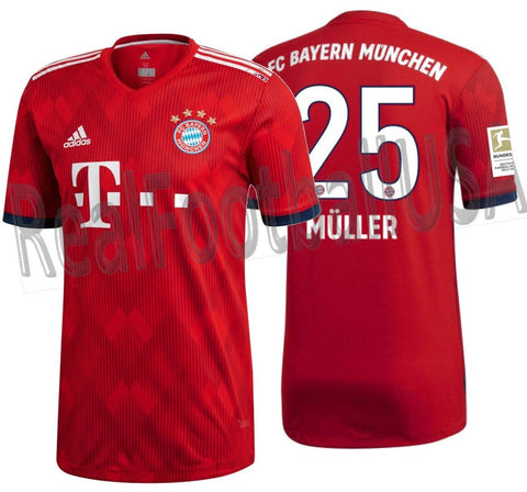 pretty nice 5d562 a1faf ADIDAS THOMAS MULLER BAYERN MUNICH AUTHENTIC MATCH HOME JERSEY 2018/19  BUNDESLIGA PATCH.