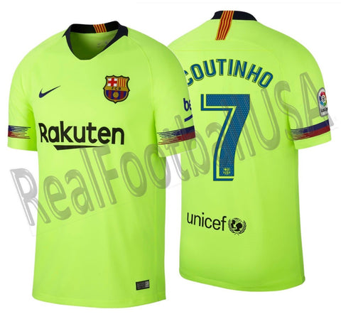 best sneakers 7cfc5 7b8fb NIKE PHILIPPE COUTINHO FC BARCELONA AWAY JERSEY 2018/19.