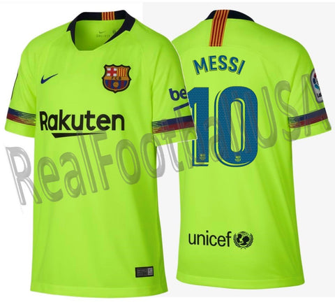 buy online 9fccb 01487 NIKE LIONEL MESSI FC BARCELONA AWAY YOUTH JERSEY 2018/19.
