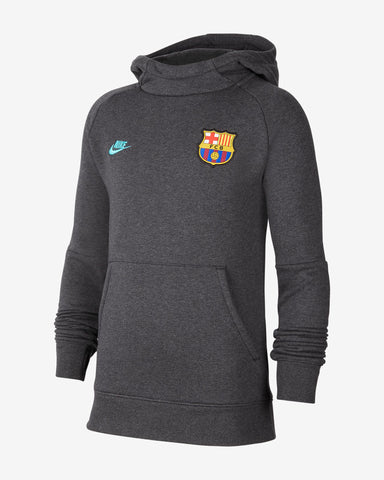 NIKE FC BARCELONA YOUTH FLEECE PULLOVER HOODIE 2019/20 0