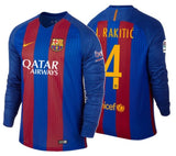 NIKE IVAN RAKITIC FC BARCELONA LONG SLEEVE HOME JERSEY 2016/17 QATAR