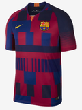 NIKE LIONEL MESSI FC BARCELONA 20TH ANNIVERSARY MASHUP UEFA CHAMPIONS LEAGUE HOME JERSEY 1999 -2019 1
