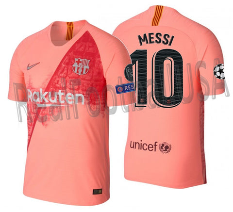 NIKE LIONEL MESSI FC BARCELONA UEFA CHAMPIONS LEAGUE VAPOR MATCH THIRD JERSEY 2018/19.