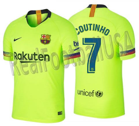 Nike Coutinho Barcelona Authentic Vapor Match Away Jersey 2018/19 918912-702