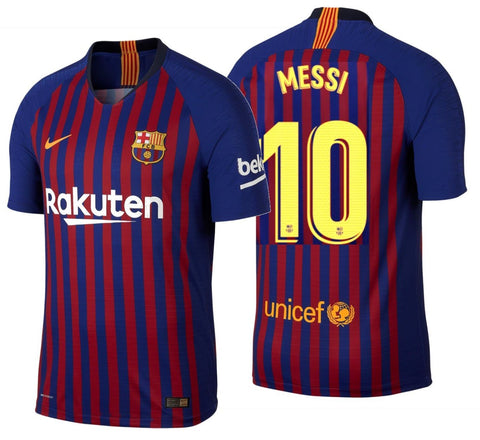 NIKE LIONEL MESSI FC BARCELONA AUTHENTIC VAPOR MATCH HOME JERSEY 2018/19.