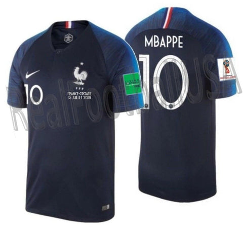 NIKE KYLIAN MBAPPE FRANCE HOME JERSEY FINAL GAME FIFA WORLD CUP 2018 PATCHES 1