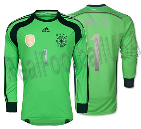 e082dd7ddc8 ... 4 STAR HOME JERSEY FIFA WORLD CUP 2014 CHAMPIONS. Adidas Manuel Neuer  Germany Goalkeeper Jersey 2014 Winners AC1129