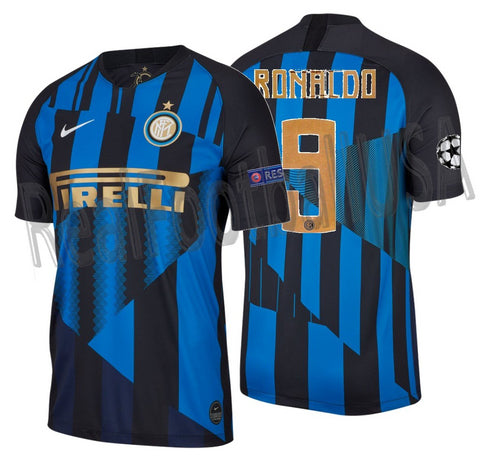 NIKE RONALDO INTER MILAN 20TH ANNIVERSARY MASHUP UEFA CHAMPIONS LEAGUE HOME JERSEY 2019.