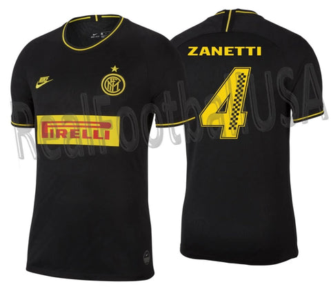 NIKE JAVIER ZANETTI INTER MILAN PIRELLI RACING LIMITED EDITION THIRD JERSEY 2019/20 1