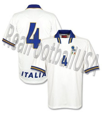 NIKE DINO BAGGIO ITALY PLAYER ISSUE AWAY JERSEY EURO 1996.