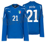 PUMA ANDREA PIRLO ITALY PLAYER ISSUE LONG SLEEVE HOME JERSEY FIFA WORLD CUP 2010.