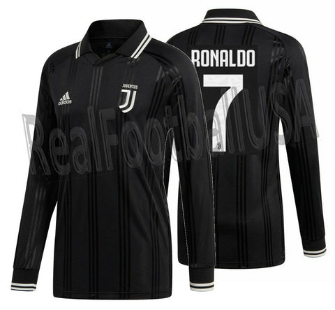 pretty nice 54740 92a2d ADIDAS CRISTIANO RONALDO JUVENTUS ICONS LONG SLEEVE T-SHIRT RETRO JERSEY  2019/20.
