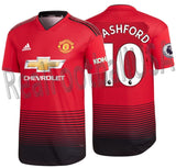 ADIDAS MARCUS RASHFORD MANCHESTER UNITED AUTHENTIC MATCH HOME JERSEY 2018/19 EPL KOHLER PATCHES.