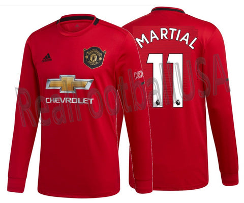 ADIDAS ANTHONY MARTIAL MANCHESTER UNITED LONG SLEEVE HOME JERSEY 2019/20.
