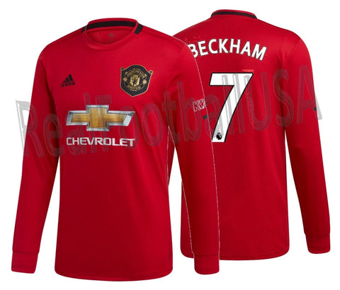 ADIDAS DAVID BECKHAM MANCHESTER UNITED LONG SLEEVE HOME JERSEY 2019/20